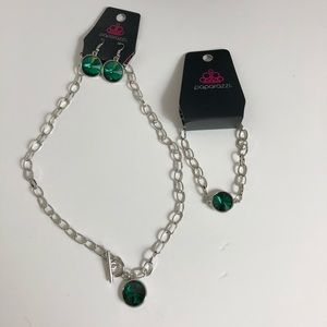 Paparazzi Jewelry Lot Green 2 pcs